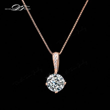 2014 New CZ Diamond Chain Necklaces & Pendants 18K Gold/Platinum Plated Fashion Crystal Brand Party Jewelry For Women DFN426-M