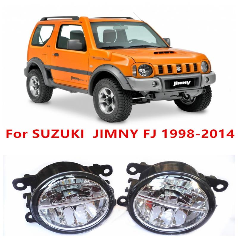 For SUZUKI  JIMNY FJ  Closed Off-Road Vehicle  1998-2014 10W Fog Light LED DRL Daytime Running Lights Car Styling<br><br>Aliexpress