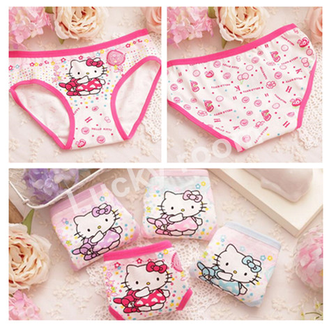 Free shipping 6pcs/lot cotton panties girls underwear kids baby briefs kids underwear girls underwear panties children