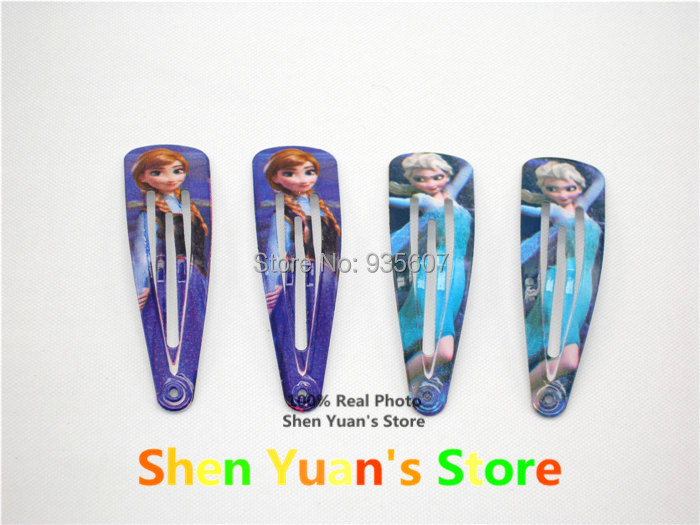 Elsa Anna hair clips hairpin Olaf Barrettes 12pcs/lot bobby hair pin cutely Children girl jewelry free shipping paper card(China (Mainland))