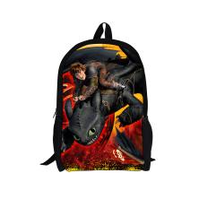 2015 New Men Schoolbag Student How To Train Your Dragon Bag,3D Cartoon Children Book Bag Boy Outdoor Packback Women Shoulder Bag(China (Mainland))