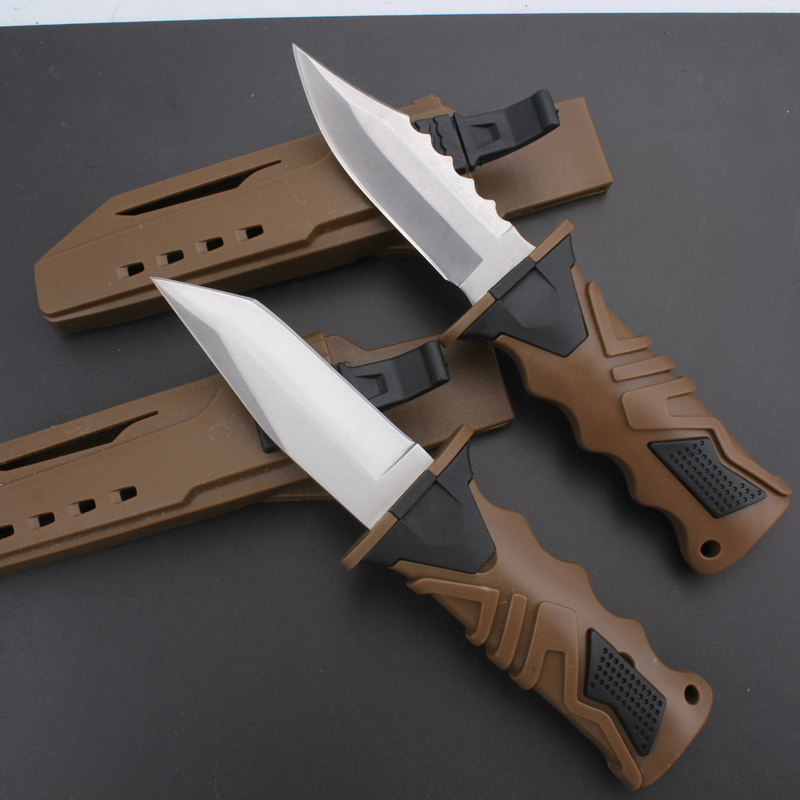 58HRC Fixed Blade Hunting Knife Navajas Cuchillos Tactical Knife Outdoor Diving Survival Knife(China (Mainland))