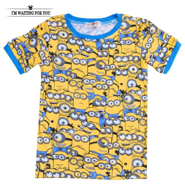 Акция мальчики одежда дети футболки гадкий я миньон мальчик девочка одежда с коротким ...