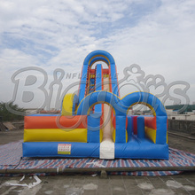 Hot Sale Factory Direct Giant Inflatable Slides With Double Doors(China (Mainland))