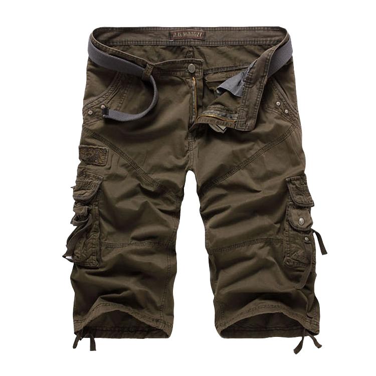 mens shorts,fashion cargo shorts men,male casual multi-pocket 4 colors 8 sizes - Baby Angel World Co,Ltd store