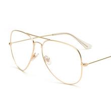 Buy Aviation Gold Frame Sunglasses Female Classic Optics Eyeglasses Transparent Clear Lens Women Men glasses Optical Pilot Style for $3.07 in AliExpress store