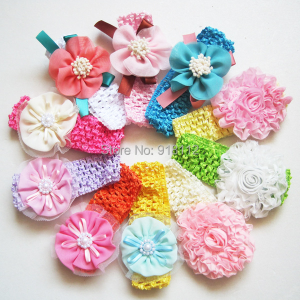 Trail Order Baby Flowers Headbands Children Hair Accesories Blending Headbands For Baby 24PCS/LOT Free Shipping(China (Mainland))