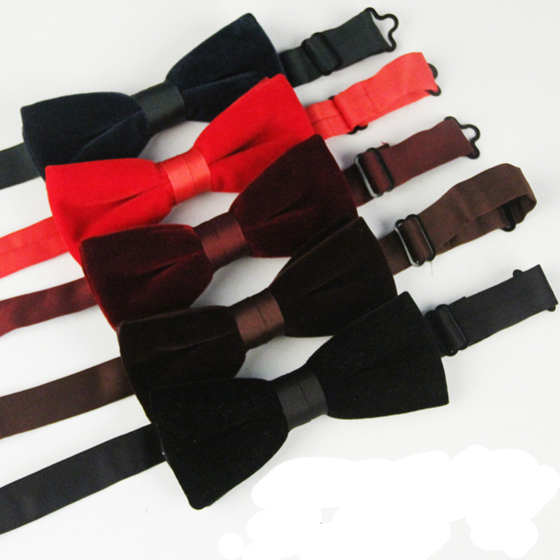 Classic Solid Color Men Bow Ties Fashion Simple Tuxedo Polyester Silk Bow Tie Adjustable Men Cravat For Wedding Party Bow Ties(China (Mainland))