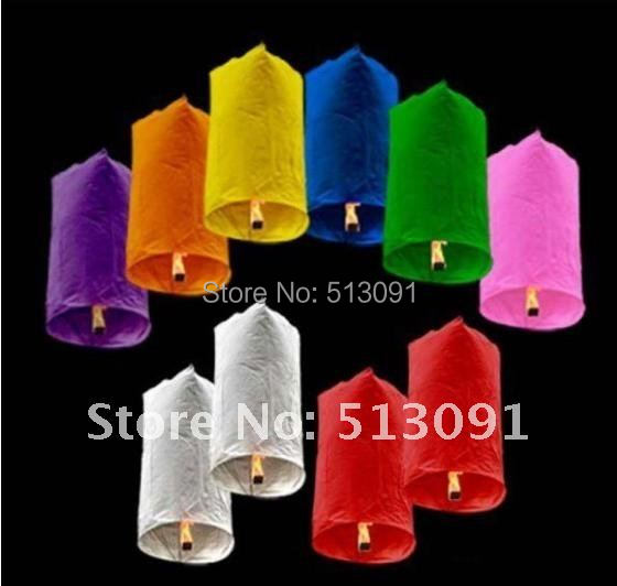 10pcs/lot new style Cylindrical Shape Mix Color Wishing Sky Lanterns For Best Wedding Gift with Free shipping,SL506(China (Mainland))