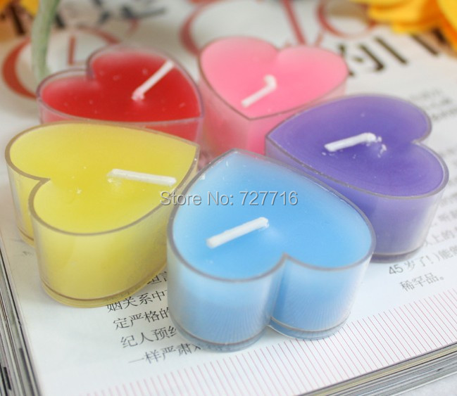 Birthday Candles Romance Heart Shaped Candle Love Wedding Party Home Candle Night wax Beautiful Christmas New Year Decor(China (Mainland))