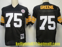 Stitiched,Pittsburgh Steelers,Terry Bradshaw,Franco Harris,Bettis,Mike Webster,Jack Lambert,Joe Greene,Lynn Swann,Throwback(China (Mainland))