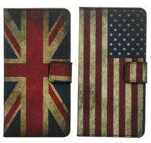 3 Book Style 2 Credit Card Slots Retro USA UK Flag Owl Leather Case Stand Asus Zenfone ZE551ML 5.5'' - Okase International Electronic Co.,Ltd store