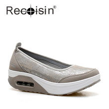 RECOISIN Марка 2017 Новых Мужчин Случайные Скольжения На Весна Удобную Обувь Женщина Высокое Качество Квартиры Мокасины Обувь Плюс Размер(China (Mainland))