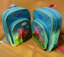 2014 New hot Children peppa pig Backpacks Kids peppa bag Girl Boy Cartoon School Bag Bookbag Leisure Satchel Mochila Free Ship(China (Mainland))
