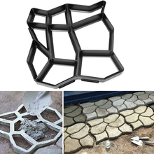 1Pcs DIY Plastic Path Maker Mold Manually Paving/Cement Brick Molds The Stone Road Auxiliary Tools For Garden Decor(China (Mainland))
