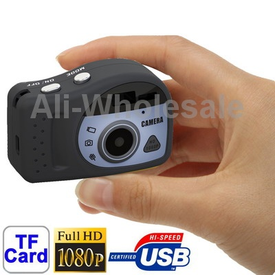 t7000 black 1080p mini digital camera mini dv 3 0 mega pixels support tf card cellphone. Black Bedroom Furniture Sets. Home Design Ideas