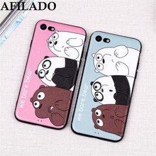 Buy 3D Relief Cute Cartoon Bare Bear Soft Slim Coque Case Apple iPhone 6 Silicone Matte Phone Shell Capa Covers IPhone 6s for $2.70 in AliExpress store