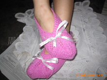 Foreign shoes home shoes hand woven wool floor home shoes home accessories floor crochet shoes