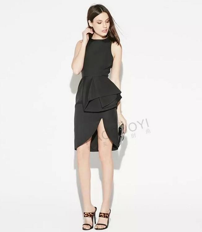 Hot selling women dress black fashion summer soft nice club sexy girls dress outdoor causal big size XL M L clothing dress #E277(China (Mainland))