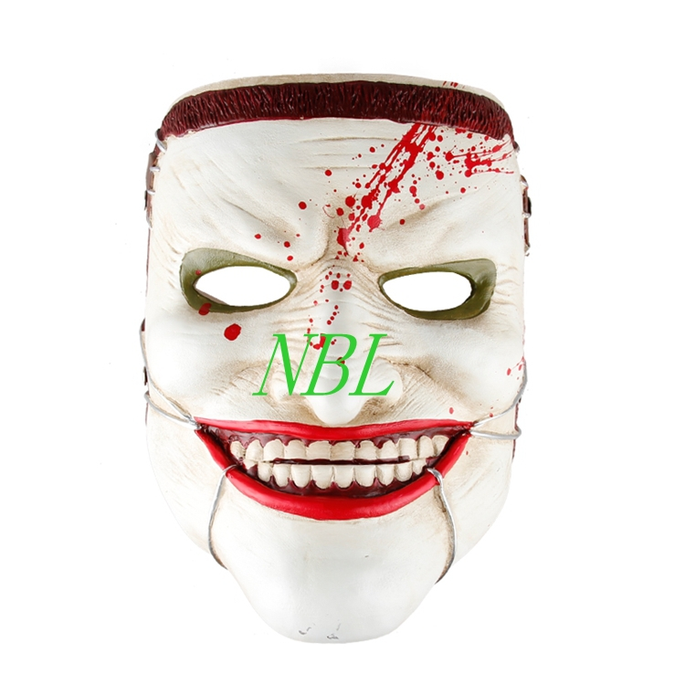 Horrible Scott Snyder Joker Resin Masks Scary Smiling Human Face Masks Halloween Masquerade Party Props With Professional Belt(China (Mainland))