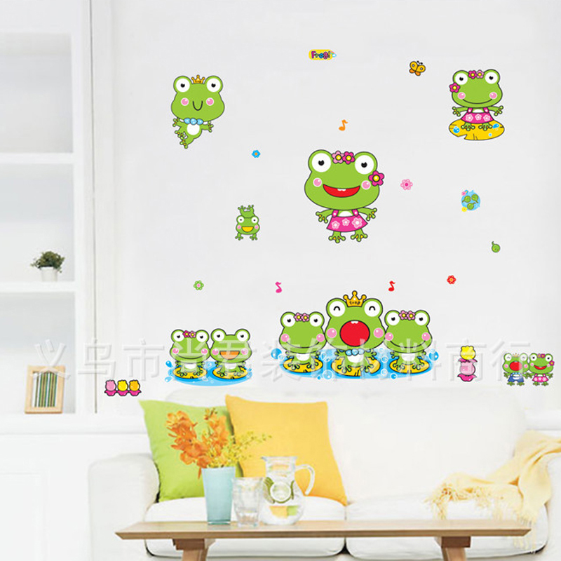 1pcs Cartoon Prince Frog Wall Sticker Living Room Nursery Bathroom