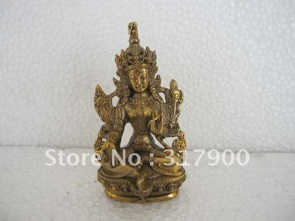 tibet messing bronze kleine gr ne tara g ttin buddha statue figuren von. Black Bedroom Furniture Sets. Home Design Ideas