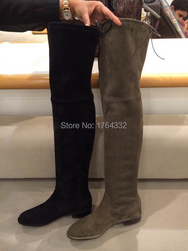 Womens Over The Knee Suede Boots