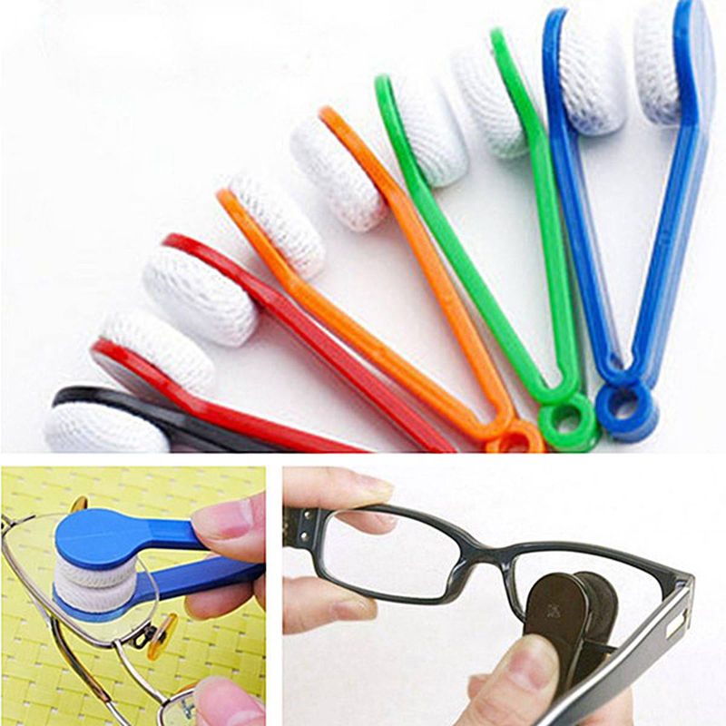 1 Pcs Random Color!!! New Glasses Sunglasses Eyeglass Spectacles Cleaner Cleaning Brush Wiper Wipe Kit Hot(China (Mainland))