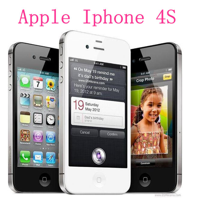 "Discount Factory Unlocked Original Apple Iphone 4S 8G/16G/32GB Smartphone 3G WIFI 5.0MP 3.5""IPS 960*640px Brand Mobile Used(China (Mainland))"