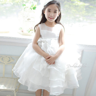 Luxury child formal dress white princess flower girl dress formal dress female child princess formal dress puff skirt<br><br>Aliexpress