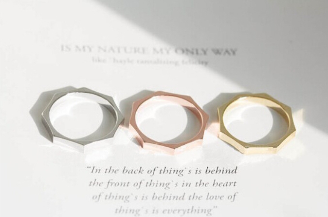 Free shipping fashion cute octagonal ring new hot sales alloy can folded stacked ring(China (Mainland))