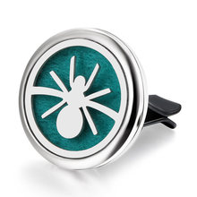 New Car Air Diffuser Locket Star moon Stainless Steel Vent Freshener Car Essential Oil Diffuser Perfume Aromatherapy Necklace(China)