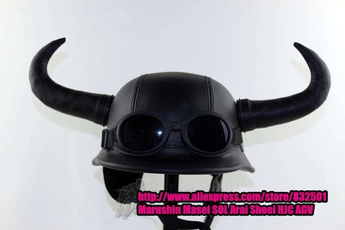 Motorcycle Helmet With Bull Horns Motorcycle Helmet Bull