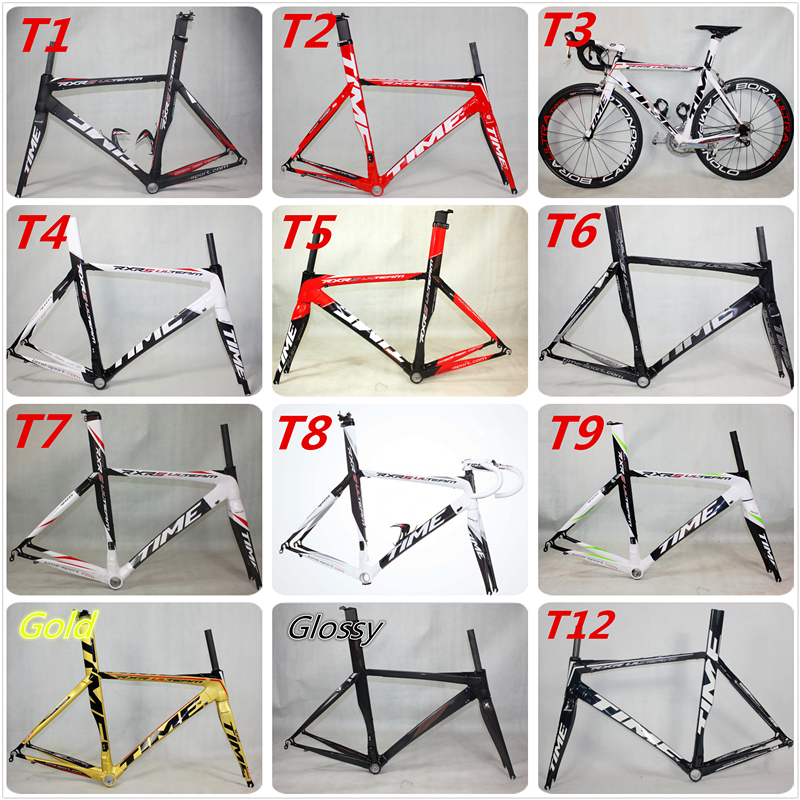 Hot sale ! TIME RXRS RXRS Ulteam Carbon Road frameset carbon fiber bicycle frame road racing bike frame 3k BB30 frame(China (Mainland))