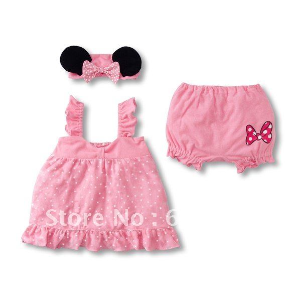 Quality girls clothes suits pink girl clothing 3 pc set baby clothes