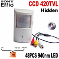 420tvl Sony CCD 940nm led camera Pir mini ccd Camera Covert Audio Night vision PIR IR