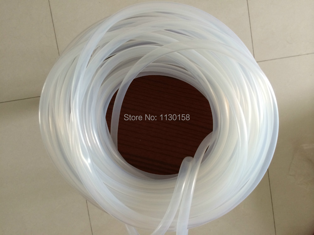 6.4X3.2mm, Clear Silicone Tube, 3.2mm Inner Diameter, 6.4mm Outer Diameter,Virgin Silicone Rubber Hose, Trans, FREE SHIPPING(China (Mainland))