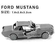 New creative Ford Mustang 3D puzzles 3D metal model DIY Vintage sports car Jigsaws Adult/Children gifts toys Real details Etc.(China (Mainland))