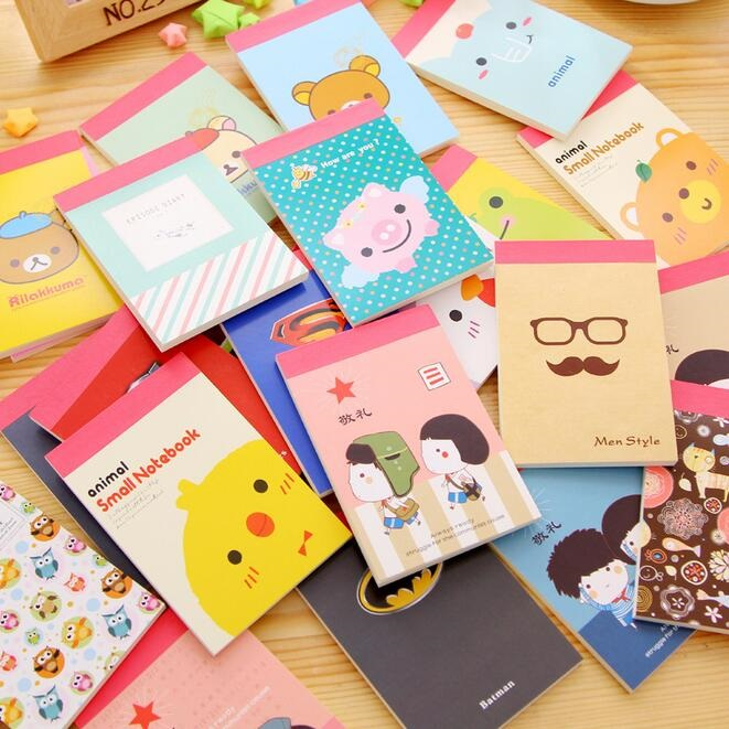 9 style for choose/Sweet Cartoon series Blank Mini Notebook/memo pad/travel diary/office school supplies/Stationery Wholesale<br><br>Aliexpress