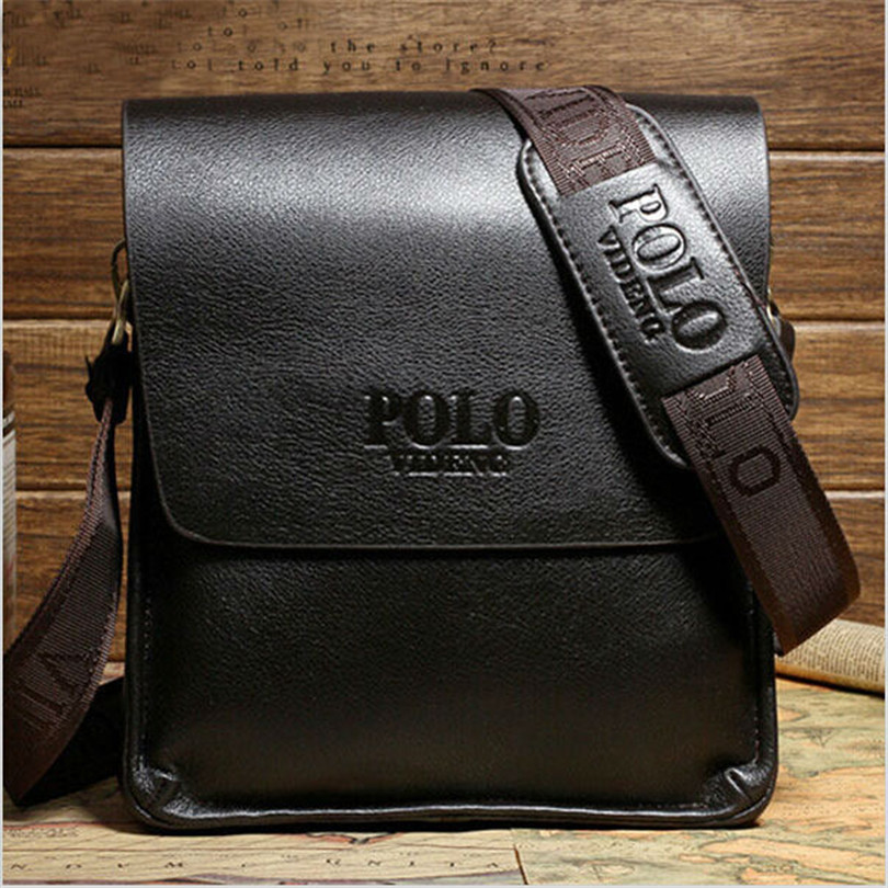 Hot male famous brand design genuine pu leather men casual business leather mens messenger bag vintage fashion cross body bags(China (Mainland))