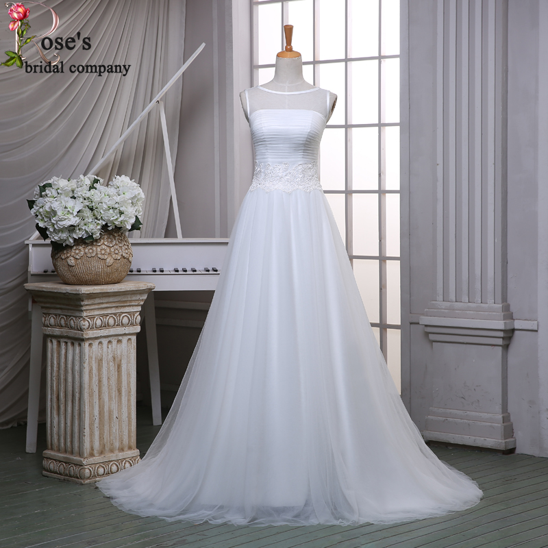 Buy vestido longo renda soft tulle white for White wedding dress cheap