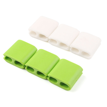 6Pcs Multipurpose Double Holes Wire Cord Cable Drop Clips Ties USB Charger Holder Organizer #81954(China (Mainland))