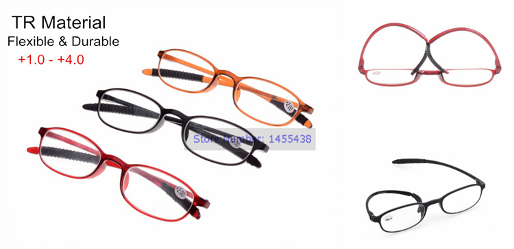 Flexible Men Women Soft TR TR90 Frame Reading Glasses Spectacles Reader Eyeglass Eyewear 1.0 1.5 2.0 2.5 3.0 3.5 4.0 D63062