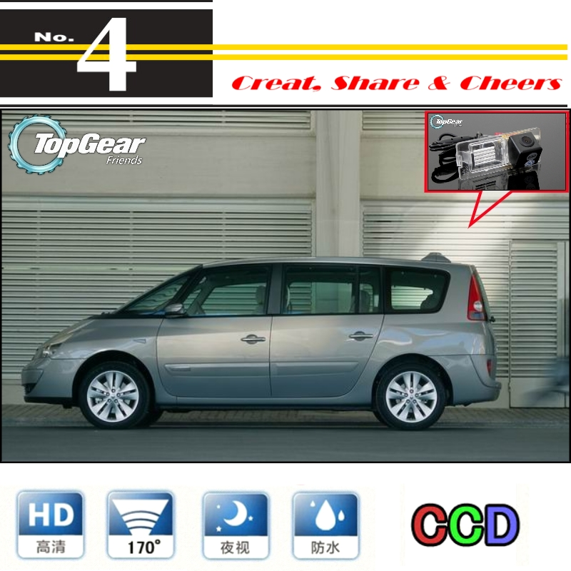 Car Camera For Renault Espace 4 VI High Quality Rear View Back Up Camera TopGear Friends Use | CCD + RCA<br><br>Aliexpress