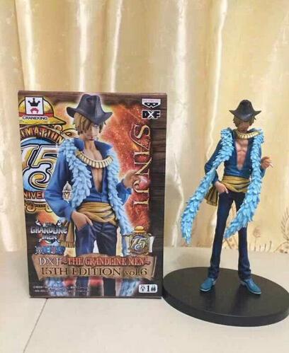 Volume order 10pcs Anime One Piece Sanji pvc figure toy tall 12cm in box via DHL.<br><br>Aliexpress