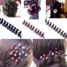 Buy 12 Pcs/Set Fashion Women Hairpins Crystal Flower Mini Barrettes Hair Claw Clamp Hair Clip Girls hair accessories 2017 for $1.39 in AliExpress store