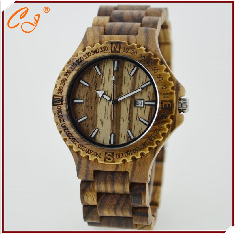 Brand Men Wooden Watch New Year Gift Bangle Quartz Watch with Calendar Display role men relogio masculino watches Relojes от Aliexpress INT