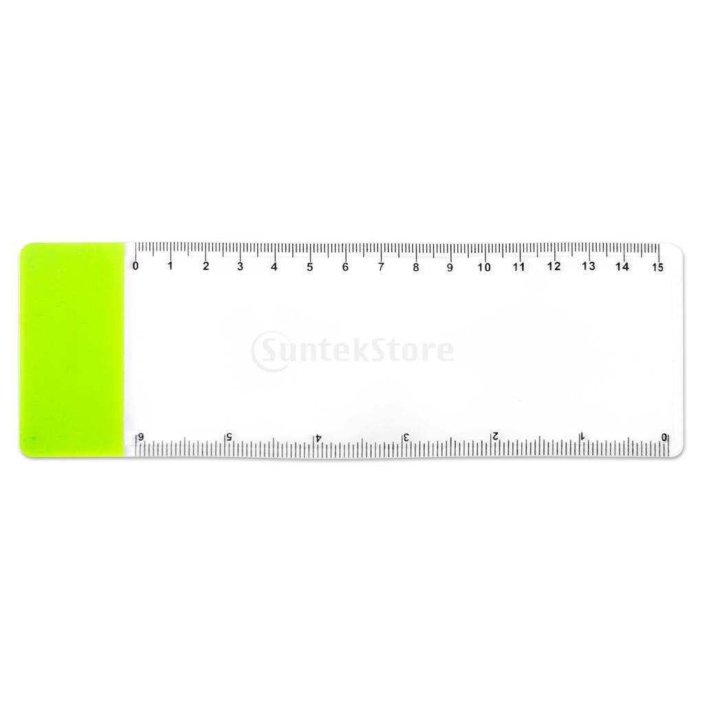 Pocket Ruler Bookmark Magnifier Sheet Magnifying 3X Magnification Random Color<br><br>Aliexpress