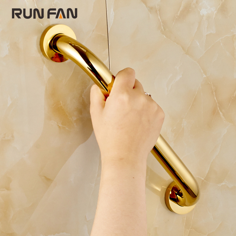 Free Shipping Brass Grab Bar Home Use Wall Mounted Towel Rack Safety Handrail Elderly Armrest Handle Bathtub Armrest Grab Bars