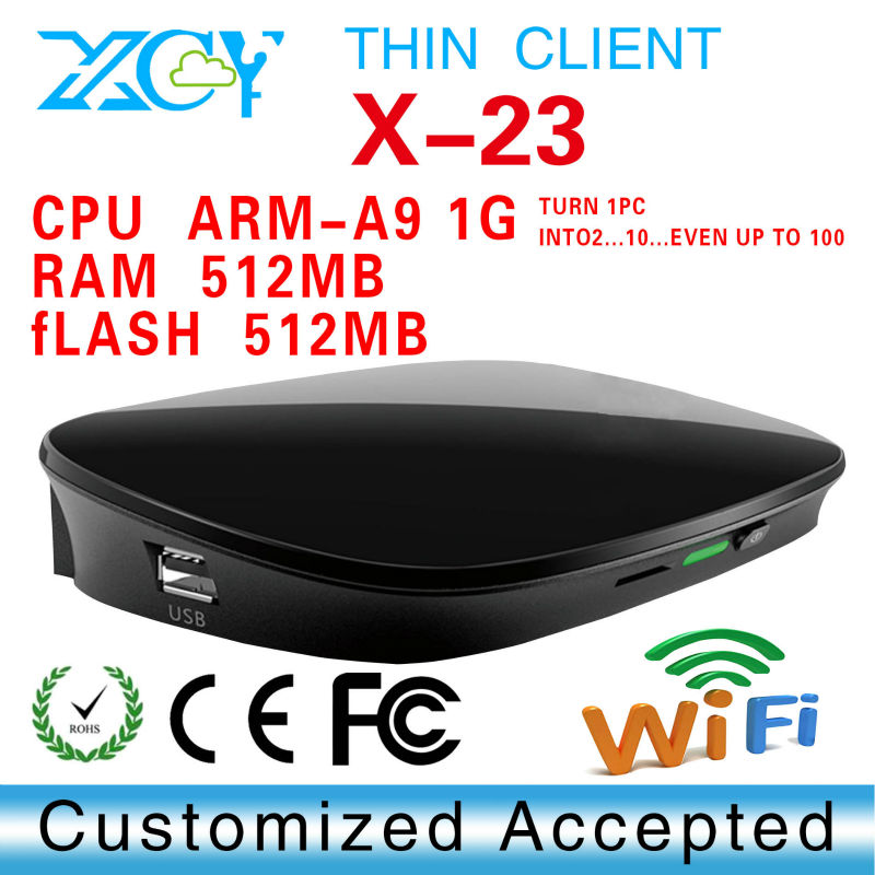 Pc share terminal thin client Embedded linux 2.6 OS ARM-A9 Dual Core 1Ghz RDP 7.1 Protocol(China (Mainland))